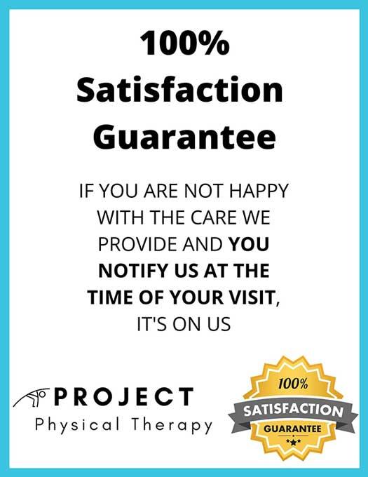 100% satisfaction guarantee banner